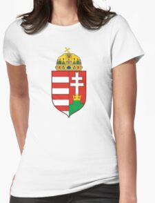Medieval Coat of Arms of Hungary  Womens Fitted T-Shirt