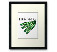 Vegetables I like beans organic garden Framed Print