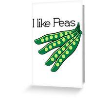 Vegetables I like beans organic garden Greeting Card