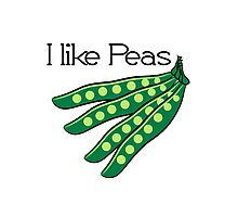 Vegetables I like beans organic garden Photographic Print