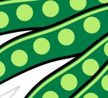 Vegetables I like beans organic garden Sticker