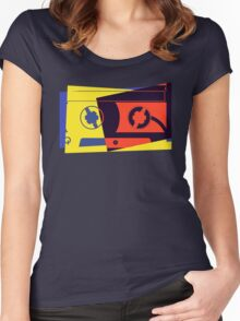 Pop Art Cassette Tape Women's Fitted Scoop T-Shirt