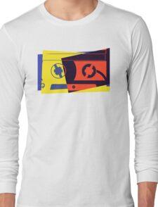 Pop Art Cassette Tape Long Sleeve T-Shirt