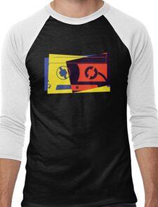 Pop Art Cassette Tape Men's Baseball ¾ T-Shirt
