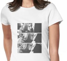 Brittana kiss Womens Fitted T-Shirt