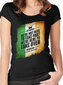 Conor McGregor - [Take Over Flag] Women's Fitted Scoop T-Shirt
