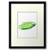 Vegetables cucumber nature garden Framed Print