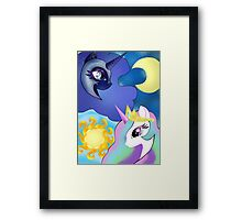 Celestia and Nightmare Moon Framed Print
