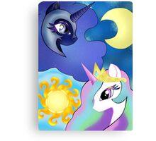 Celestia and Nightmare Moon Canvas Print