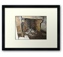The Hearth Of The Cooneen Ghost House.........Please Read Description Framed Print