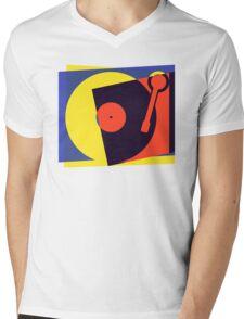 Pop Art Turntable Mens V-Neck T-Shirt
