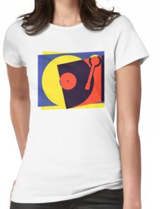Pop Art Turntable Womens Fitted T-Shirt