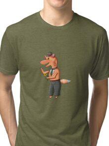 Snappy Mr Fox Tri-blend T-Shirt