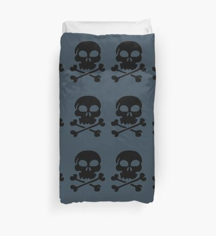 SKULL AND CROSSBONES by Zombie Ghetto Duvet Cover