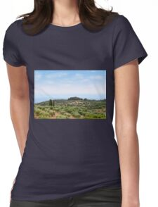 Sithonia Halkidiki Greece landscape Womens Fitted T-Shirt