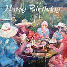 Tea In The Garden With Friends - Birthday Cards by Ballet Dance-Artist