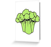 Vegetables of broccoli nature garden Greeting Card