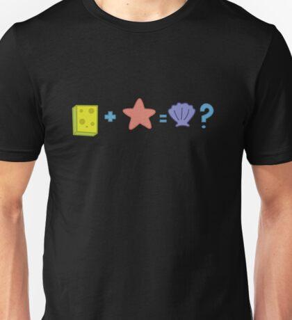 Sponge + Starfish = Clam? Unisex T-Shirt