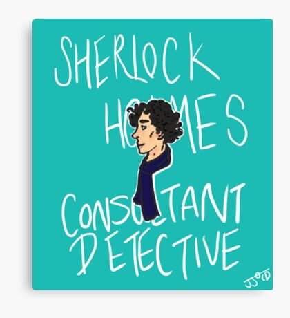 The Consultant Detective Canvas Print