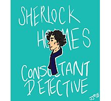 The Consultant Detective Photographic Print