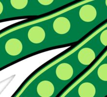 Vegetables beans organic garden Sticker