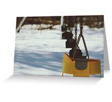 Old Swing Set Greeting Card