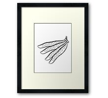 Vegetables beans organic garden Framed Print