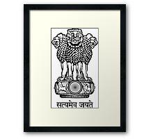 Emblem of India  Framed Print