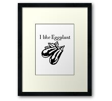 Vegetables Eggplant nature garden Framed Print