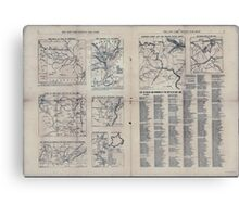 Civil War Maps 1809 The Tribune war maps 02 Canvas Print