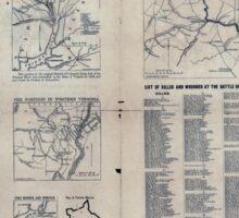 Civil War Maps 1809 The Tribune war maps 02 Sticker