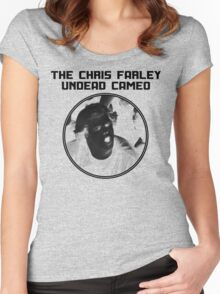 THE CHRIS FARLEY UNDEAD CAMEO - 1 COLOR Women's Fitted Scoop T-Shirt