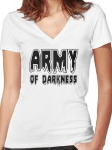 ARMY OF DARKNESS by Zombie Ghetto Women's Fitted V-Neck T-Shirt