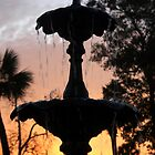 Sunset Fountain by Bill Gamblin