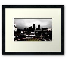 Stadium - Back Light Framed Print