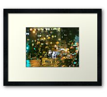 Powell Street Rainy Night Framed Print