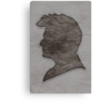 Tenth Doctor Silhouette Canvas Print