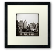 { skinny houses } Framed Print