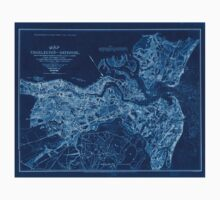 Civil War Maps 0681 Map of Charleston and its defences Inverted One Piece - Short Sleeve