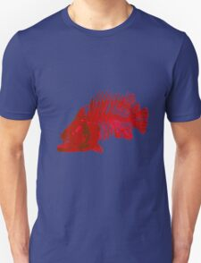 red fish skeleton Unisex T-Shirt