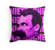 Nietzsche -  Face / Nietzsche Throw Pillow