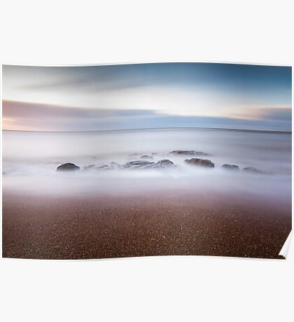 255 second exposure on Eastbourne beach Poster