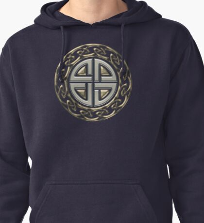 Celtic Shield Knot, Protection, Four Corner, Norse Pullover Hoodie