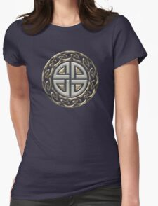 Celtic Shield Knot, Protection, Four Corner, Norse Womens Fitted T-Shirt