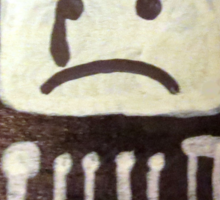 Crying T.V. Sticker