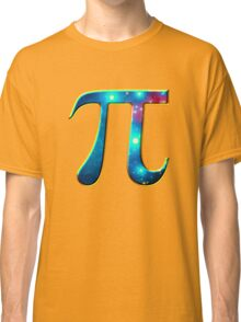 Pi π Galaxy Science Mathematics Math Irrational Number Sequence Classic T-Shirt