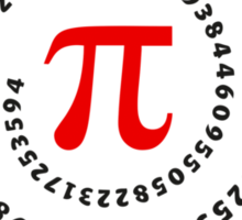 Pi π Galaxy Science Mathematics Math Irrational Number Sequence Sticker