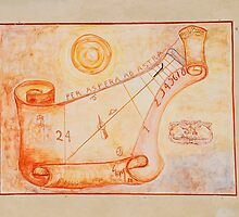 Sundial on Exterior of Friulian Farming Culture Museum by jojobob