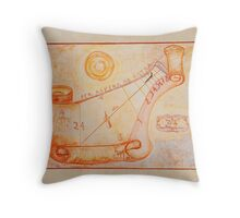 Sundial on Exterior of Friulian Farming Culture Museum Throw Pillow