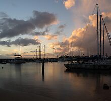 Boats and Clouds - Waikiki, Honolulu, Hawaii by Georgia Mizuleva